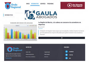 GAULA Abogados en Onda Regional